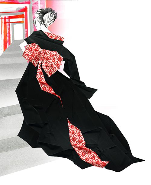 Paper Work -fashion Illustration-Japan Beauty
