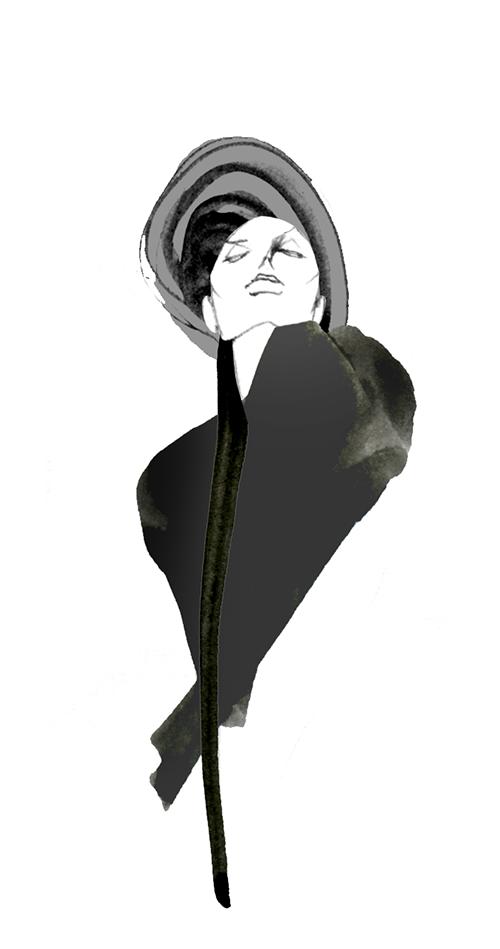 FASHION ILLUSTRATION -black Style