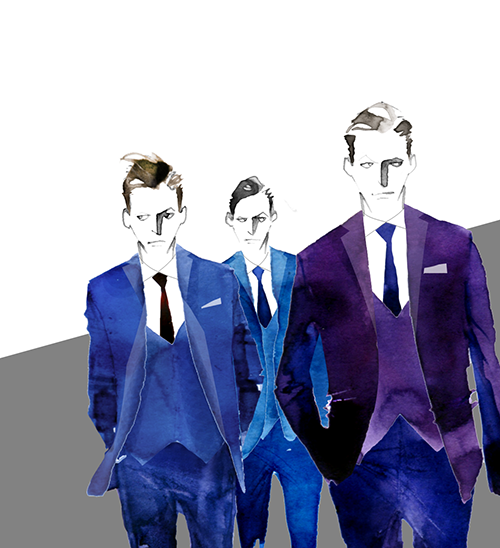 MEN'S FASHION ILLUSTRATION -Suits