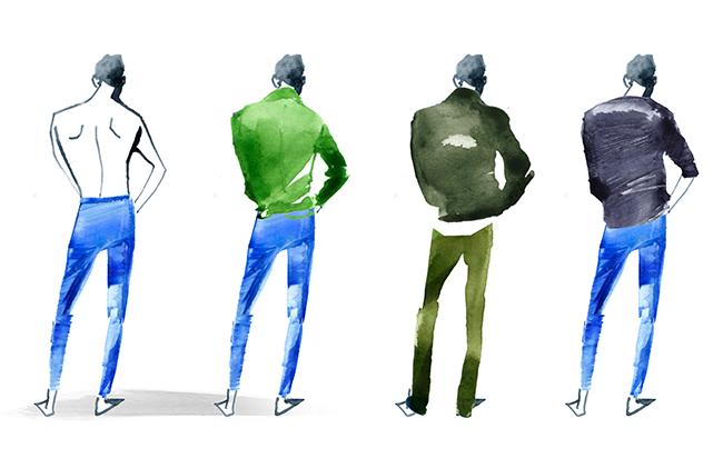 MEN'S FASHION ILLUSTRATION -Back Styles