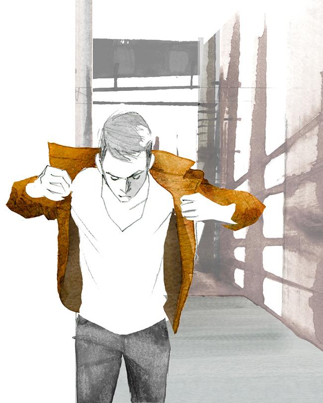 MEN'S FASHION ILLUSTRATION -Men's Leather Jacket
