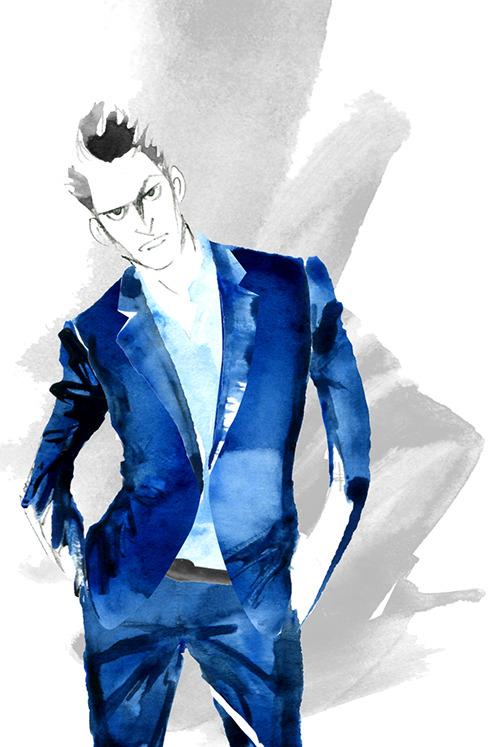 MEN'S FASHION ILLUSTRATION -Men's Suits