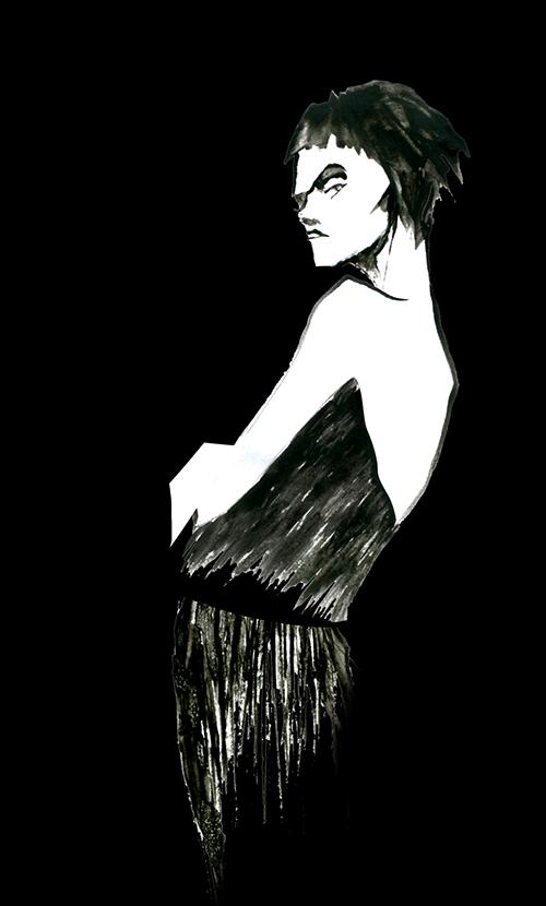 FASHION ILLUSTRATION -Black Dress