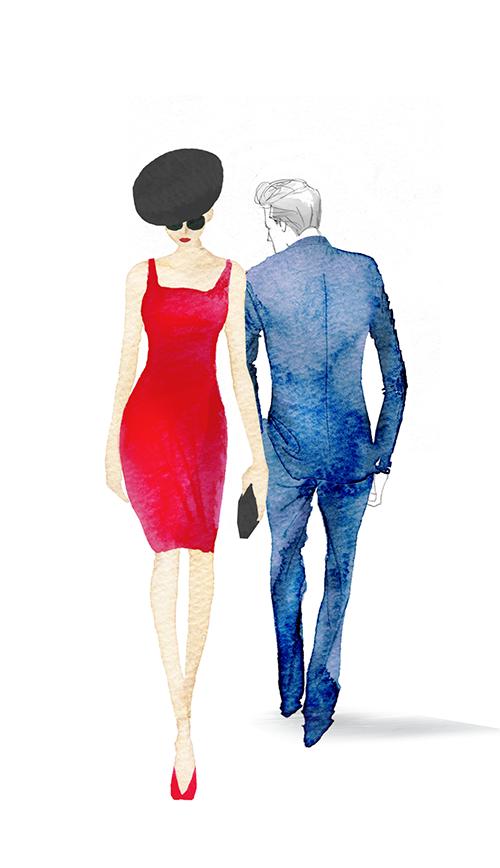 FASHION ILLUSTRATION -Red Dress