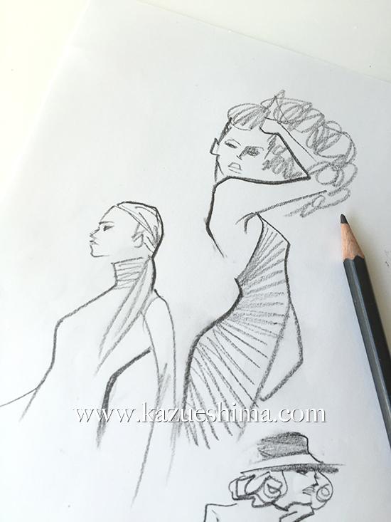 FASHION ILLUSTRATION – Rough Sketch, Short Dress