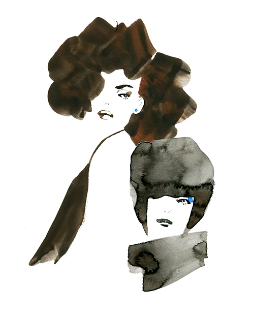 FASHION ILLUSTRATION Portrait-woman Hair Styles
