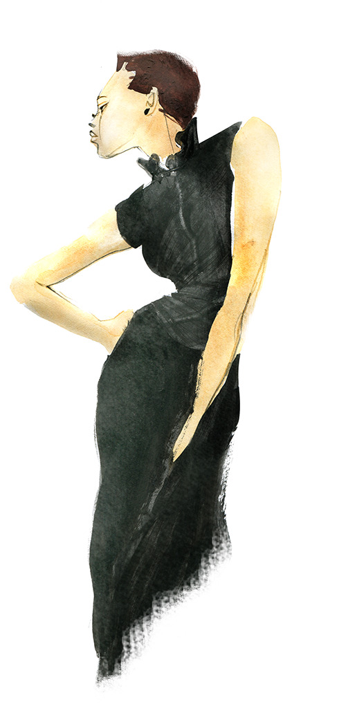 FASHION ILLUSTRATION -neck Dress