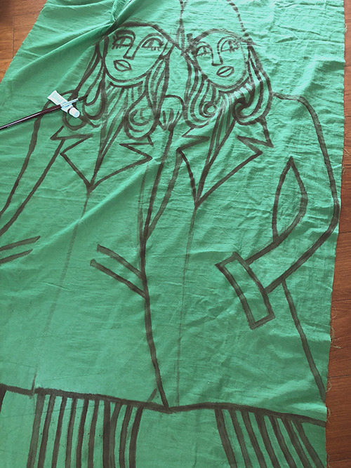 Drawing On Long Scarf