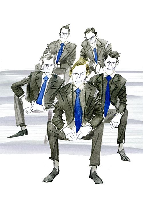 MEN'S FASHION ILLUSTRATION -suits And Suits!