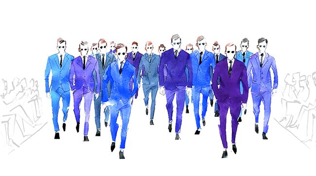 MEN'S FASHION ILLUSTRATION -runway
