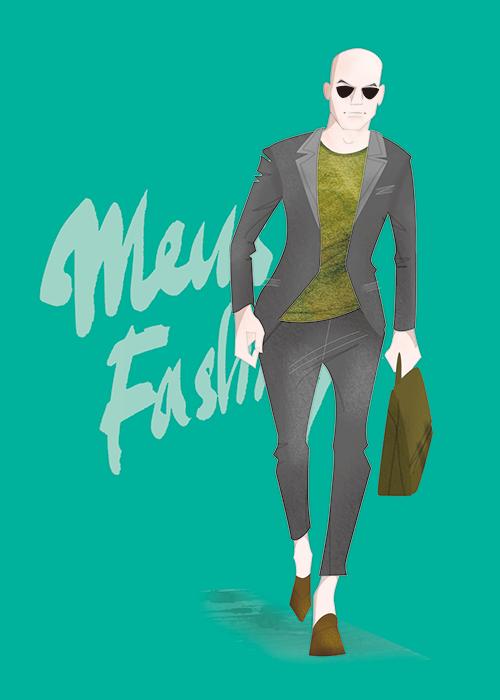 MEN'S FASHION ILLUSTRATION -casual Suits