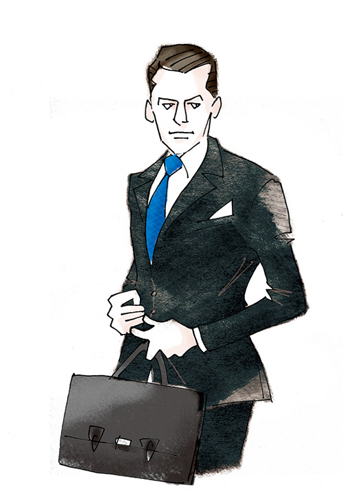 MEN'S FASHION ILLUSTRATION -dark Suits