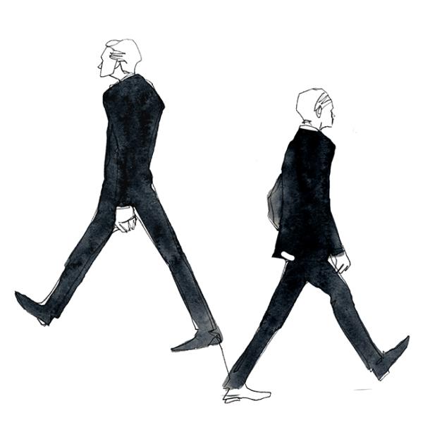 Mens Walk Illustration