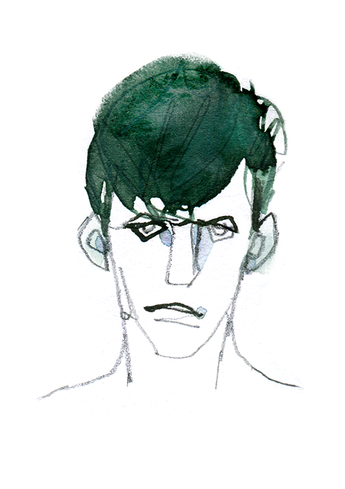 MEN'S FASHION ILLUSTRATION Portrait-hair Style & Face