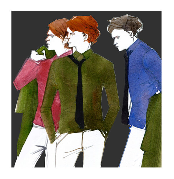 MEN'S FASHION ILLUSTRATION -color Shirts