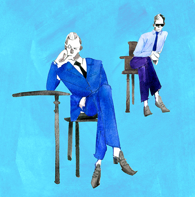 MEN'S FASHION ILLUSTRATION Water Color-chair