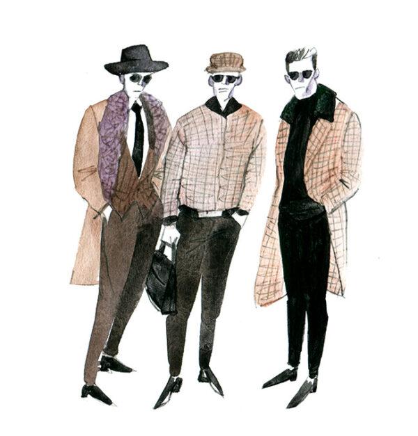 MEN'S FASHION ILLUSTRATION -plaid Style