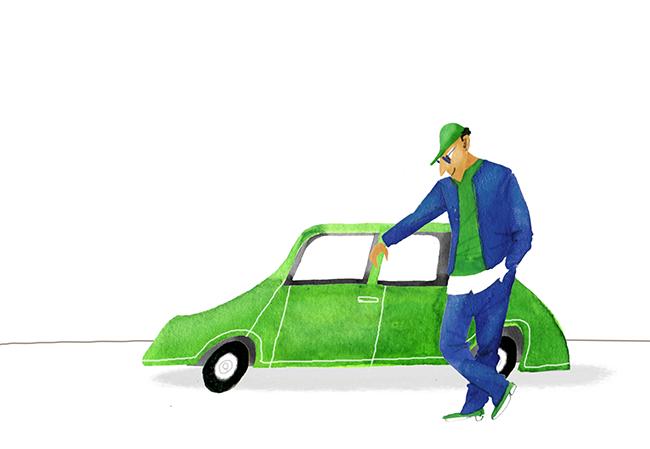 Green Car And Fashion