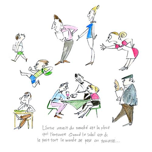 Illustration Of People In Paris