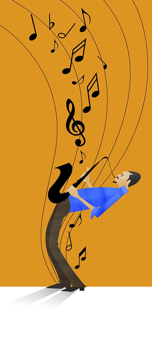 Illustration Of Jazz Man