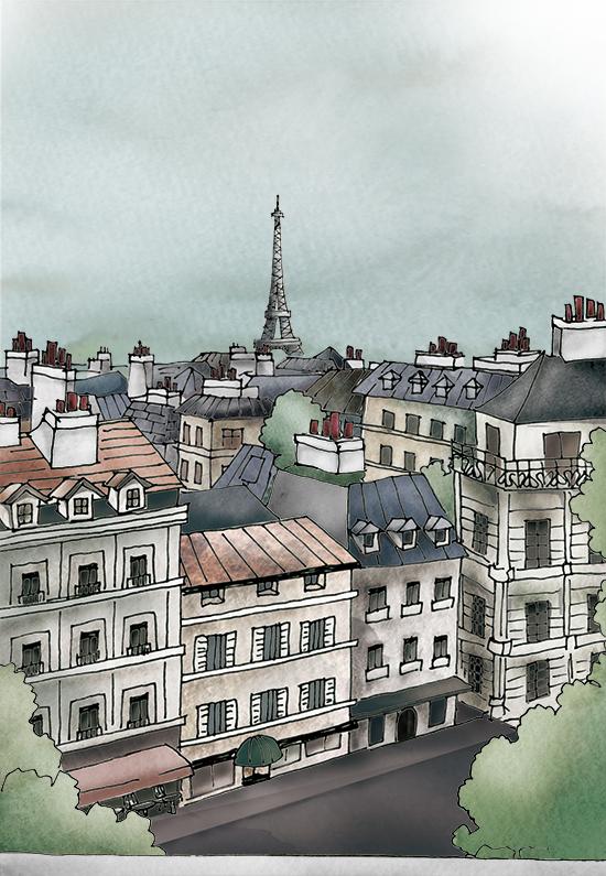Scene Of Roof In Paris