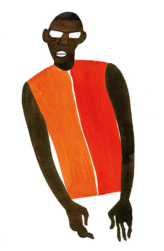 Fashion Illustration Portrait Men's Two Color Tops
