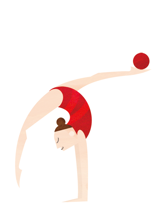 IIlustration Of Gymnastic For 2020 Tokyo Olympic And Paralympic