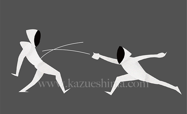 Ilustration Of Fencing For 2020 Tokyo Olympic And Paralympic