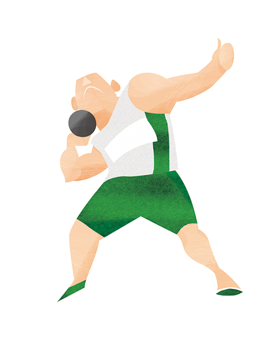 Ilustration Of Shot Put For 2020 Tokyo Olympic And Paralympic